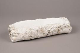 A018U0 Jardinière céramique blanche 26cm x 7cm H8cm