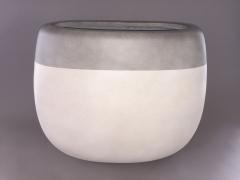 A157LC Jardinière en fibre ciment blanc gris 55x24cm H47cm