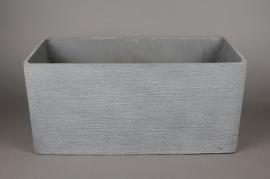 A013E3 Jardinière en fibre ciment gris clair 65x30cm H30cm