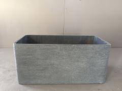 A014E3 Jardinière en fibre ciment gris foncé 74x36cm H36cm