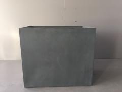A017XY Jardinière en fibre gris foncé 40cm x 70cm H60cm
