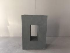 A009XY Jardinière en fibre gris foncé ajouré 27cm x 52cm H70cm