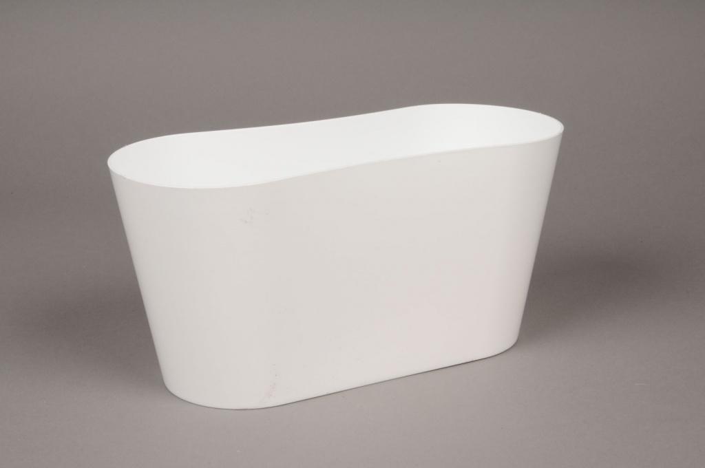 Jardini re en plastique blanc 12x27cm h13cm for Jardiniere en plastique
