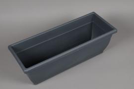 A133NT Jardinière en plastique gris 24cm x 60cm H21cm