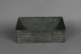 Old looking zinc aged wall planter 30x10 H9cm