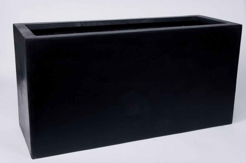 jardini re polystone noir 80x30cm h40cm. Black Bedroom Furniture Sets. Home Design Ideas
