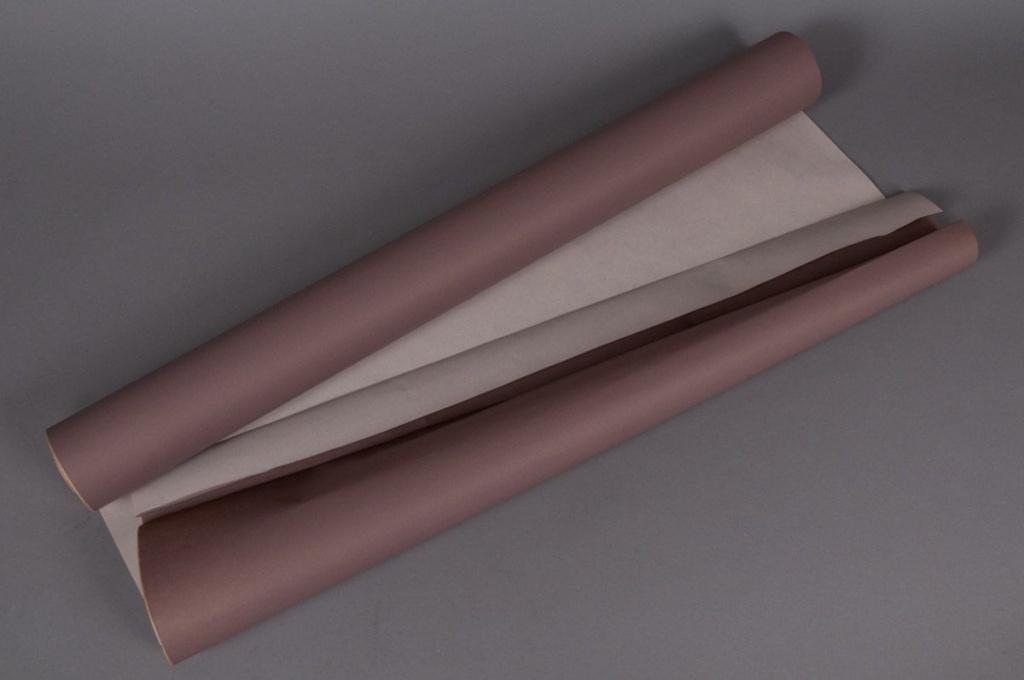 Kraft paper roll chocolate/ ivory 0,8x50m