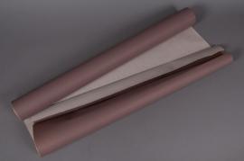 Kraft paper roll chocolate/ ivory 80cmx50m