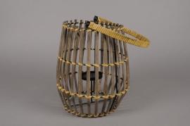 A037AV Lanterne en bambou D23cm H27cm
