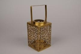 A005C2 Lanterne en laiton 10.5cm x 10.5cm H17cm