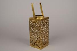 A004C2 Lanterne en laiton 10.5cm x 10.5cm H23.5cm