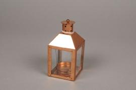 A024E6 Lanterne en métal cuivre 6cm x 6cm H12.5cm