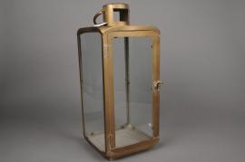 C013DQ Lanterne en métal or laiton 20cm x 20cm H51cm
