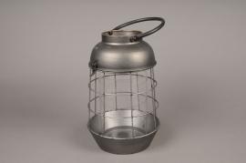 A014S0 Lanterne en métal vieilli D19cm H28.5cm