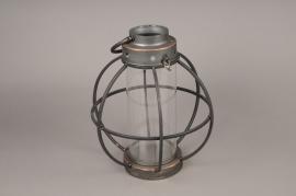 A013S0 Lanterne en métal vieilli D31cm H35cm