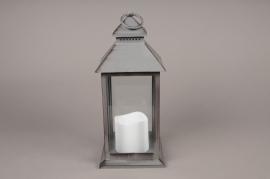A008A1 Lanterne en plastique gris 10cm x 10cm H24cm