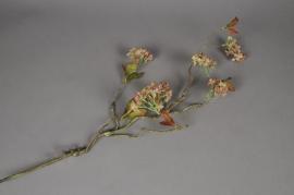 x025lp Liane artificielle fleurie vert rose H70cm
