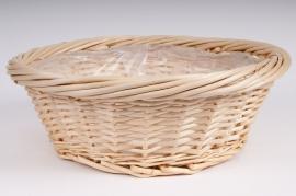 Light wicker round bowl D45 H16cm