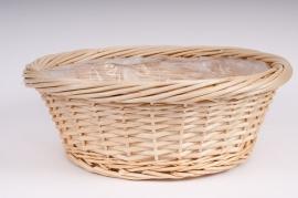Light wicker round bowl D50 H17cm