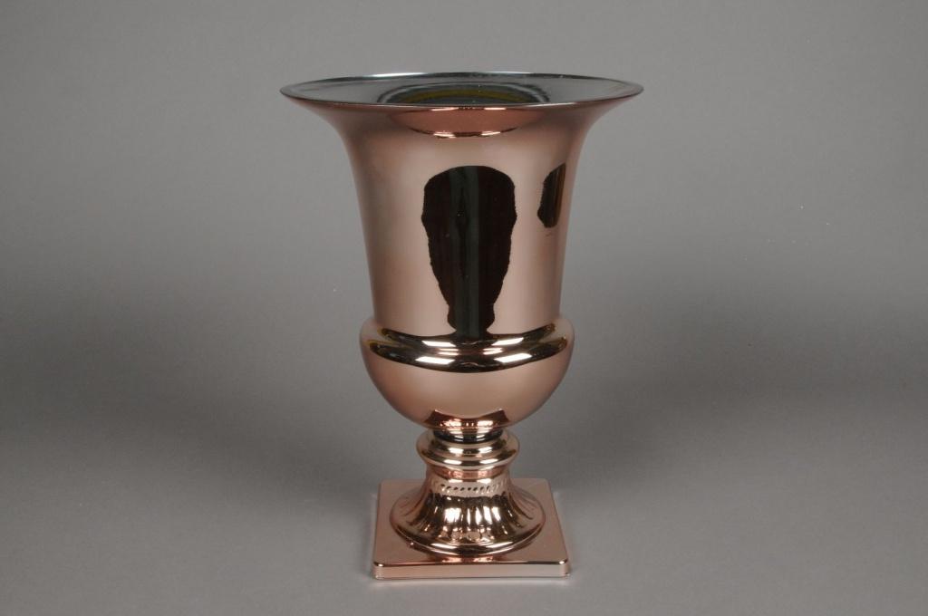 Medici glass vase gold D23cm H31cm