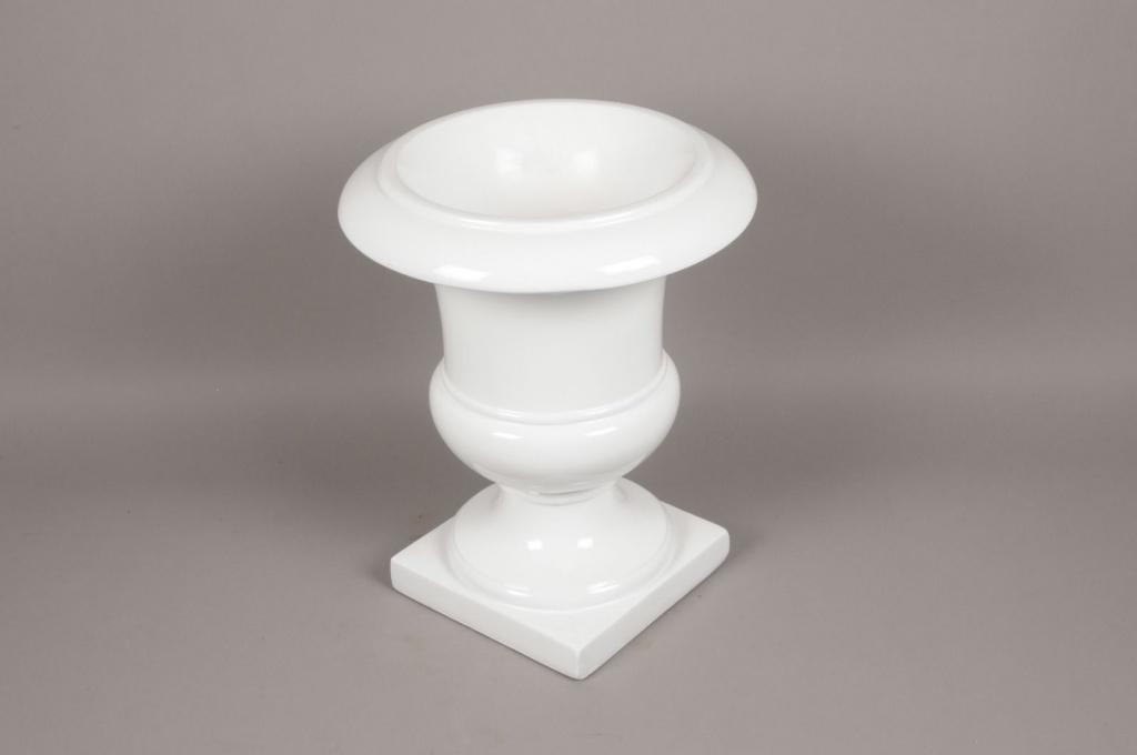 A007W7 Médicis en fibre de verre blanc D38cm H46cm