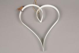 SV01AK Metal heart white D28cm