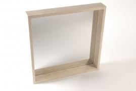 A153RX Miroir en bois naturel 60cm x 60m