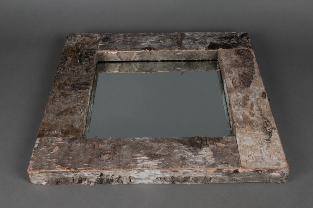 Miroir en écorce D49 H49 cm