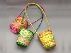 MU00Y8 Colorful wicker basket D10cm H11cm