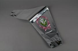 MU04MO Paquet de 50 housses à muguet aluminium 40x25x10cm