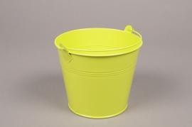 MU11WV Bucket zinc green D14.5cm H12cm