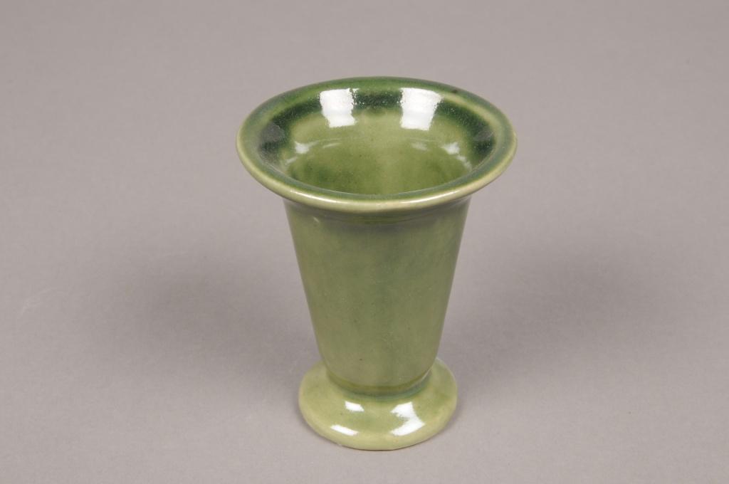 MU15WV Set de 12 vases en céramique vert D7.5cm H9cm