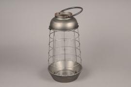 A015S0 Old looking metal lantern D21cm H40cm