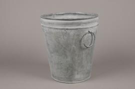 A068Q4 Old looking zinc bucket D22cm H25cm