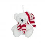 X018W2 White teddy bears H9cm