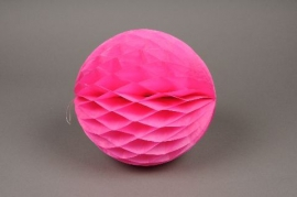 A828GM Pack of 2 paper balls fuchsia hanging D20cm