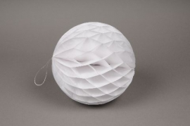 A826GM Pack of 2 paper balls white hanging D20cm