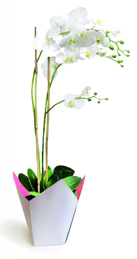A247QX Pack of 25 grey waterproof planters 8.5cm x 8.5cm H17cm