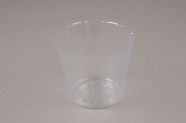 A003V9 Pack of 50 plastic pots D13cm H10cm