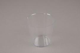 A005V9 Pack of 50 plastic pots D8cm H7.5cm