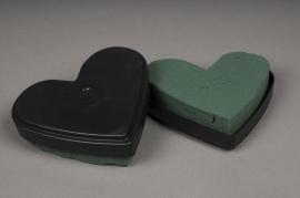 A948QV Pack of 6 heart floral foam D13cm