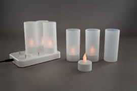 Pack of 6 LED reffilable candles + charger