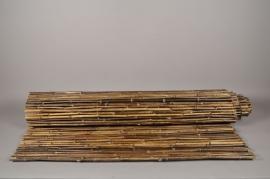 A033DN Palissade en bambou plein noir 150 x 300cm