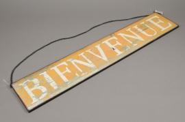 A011N9 Panneau bois BIENVENUE L80cm H15cm