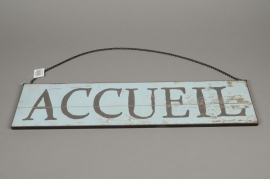 A009N9 Wooden panel printed JARDIN L60cm H15cm