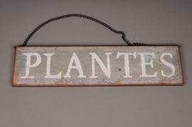 A000N9 Panneau bois PLANTES 40x10cm