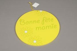 GM06QJ Panneau cercle Bonne fête Mamie D30cm