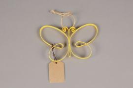 A009AK Papillon en métal jaune H11cm