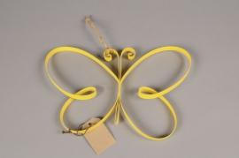 A012AK Papillon en métal jaune H20cm