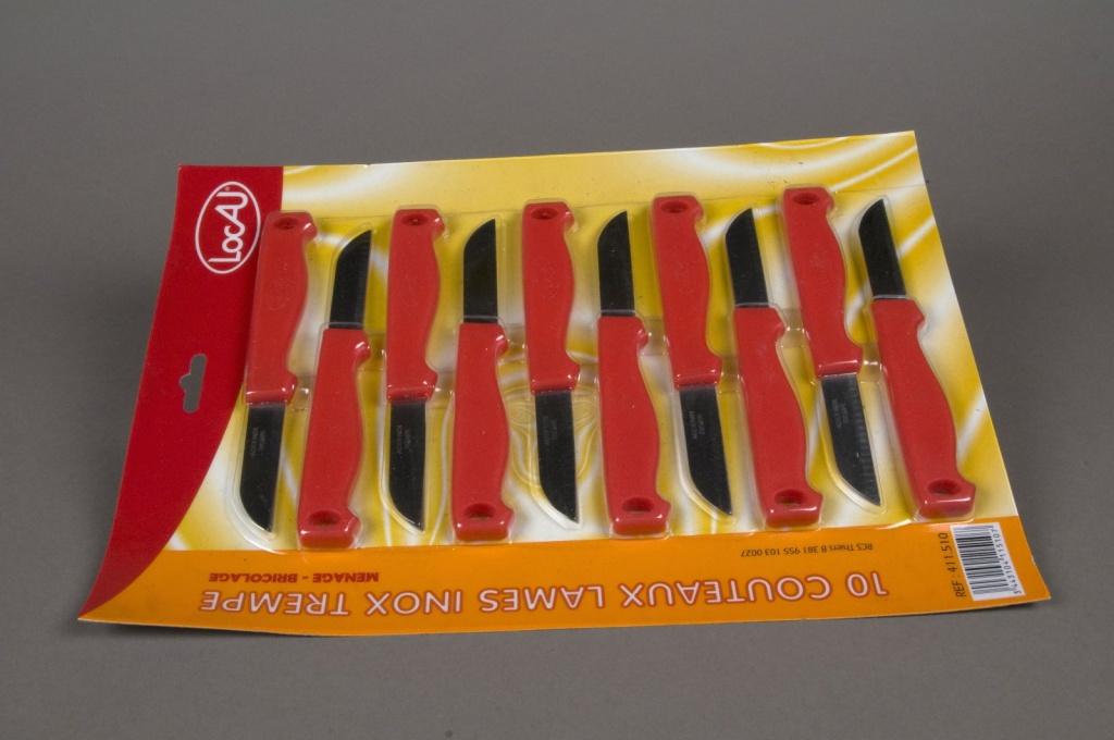 A015D5 Paquet 10 couteaux fleuriste